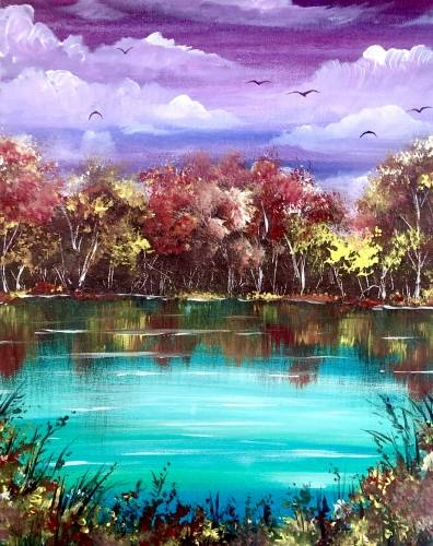 A Autumn Paradise paint nite project by Yaymaker