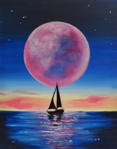 A Setting Sail paint nite project by Yaymaker