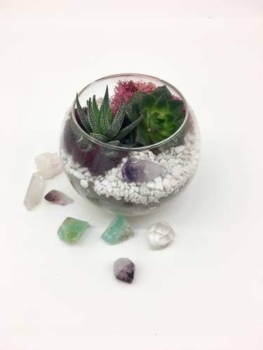 A Rose Bowl with Choice of Crystal II plant nite project by Yaymaker