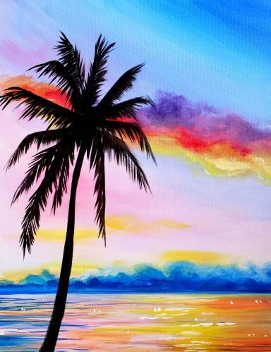 A Florida Dreaming paint nite project by Yaymaker