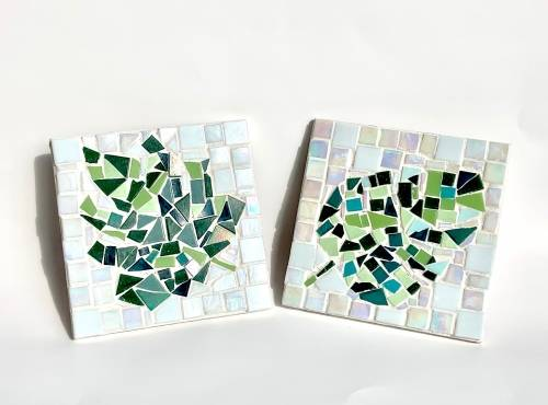 A Pair of Leaves make a mosaic project by Yaymaker