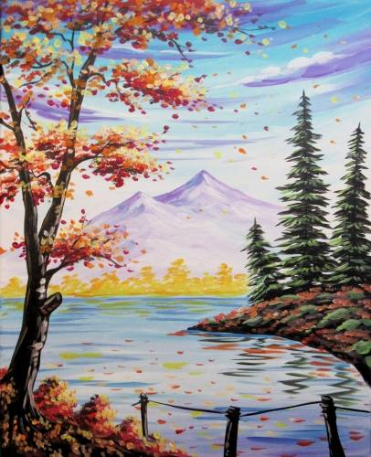 A Autumn Retreat paint nite project by Yaymaker