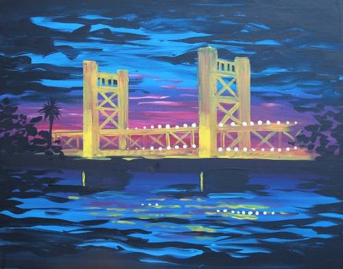 A Sacramento Tower Bridge II paint nite project by Yaymaker