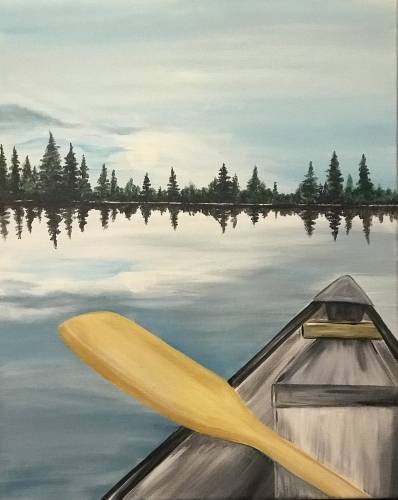 A Peaceful Reflection II paint nite project by Yaymaker