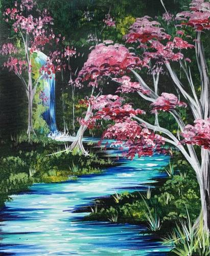 A Mystical Waterfall II paint nite project by Yaymaker