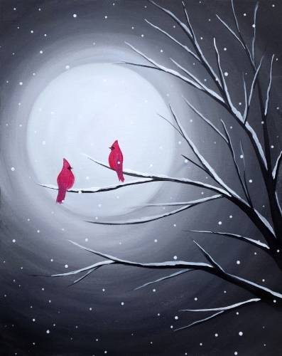 A Cardinal Moon paint nite project by Yaymaker