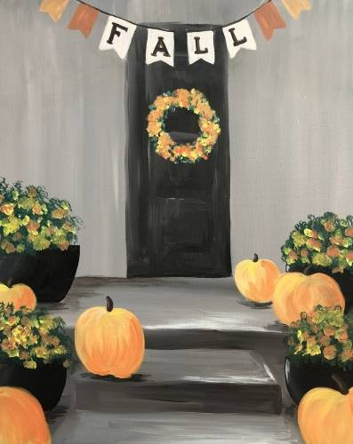 A Fall Doorway paint nite project by Yaymaker