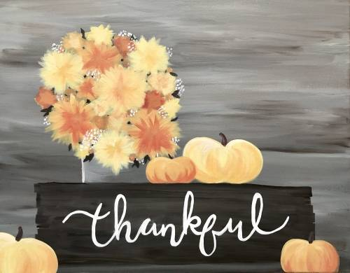 A Thankful For Fall paint nite project by Yaymaker
