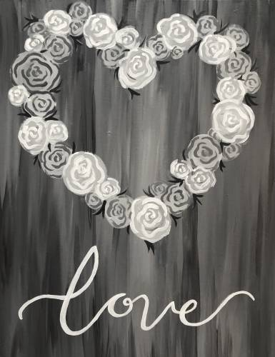 A Love In Black  White paint nite project by Yaymaker