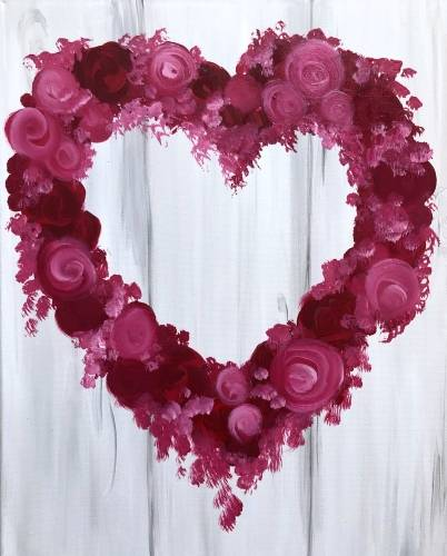 A Floral Heart paint nite project by Yaymaker