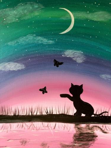 A Chasing Butterflies paint nite project by Yaymaker