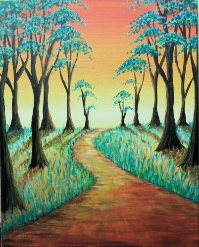 A Golden Pathway paint nite project by Yaymaker