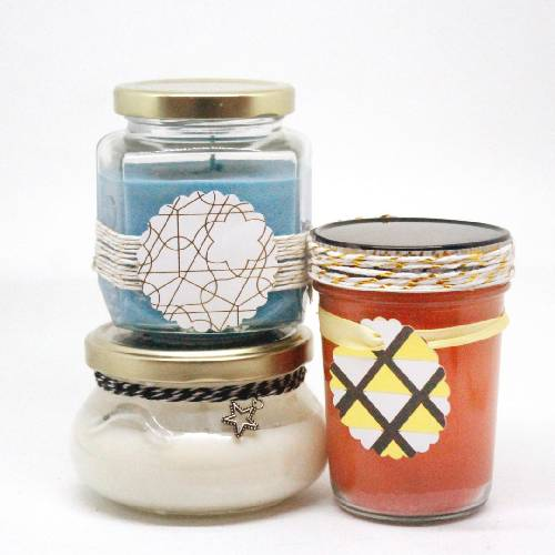 A Mixed Jars Candle Trio candle maker project by Yaymaker