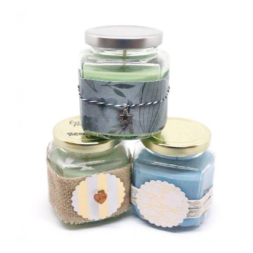 A Hexagon Jars Candle Trio candle maker project by Yaymaker