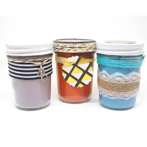 A Jelly Jars Trio II candle maker project by Yaymaker