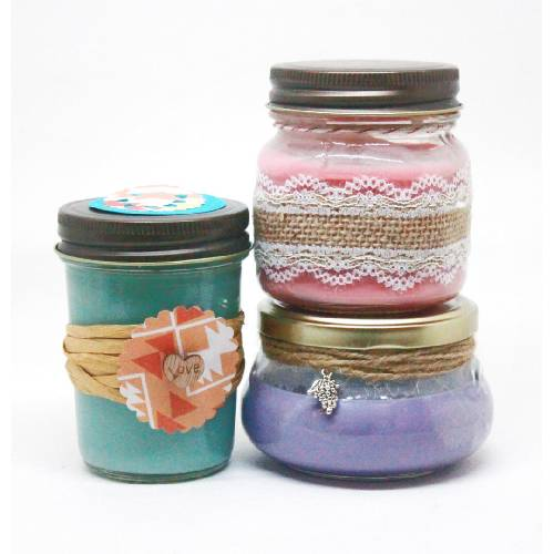 A Mixed Jars Candle Trio II candle maker project by Yaymaker