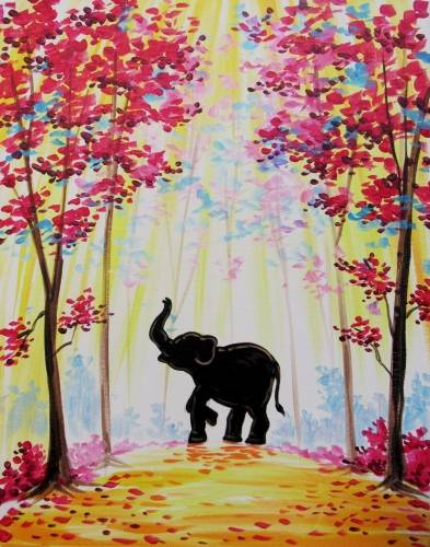 A The Happy Elephant paint nite project by Yaymaker