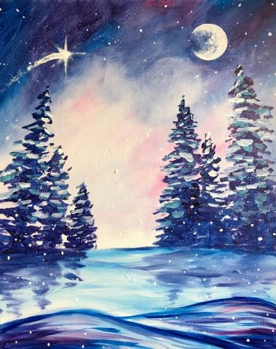 A A Winter Wonderland paint nite project by Yaymaker
