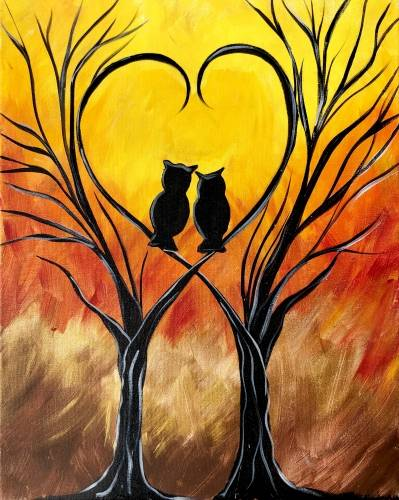 A Owl Love You Through the Seasons paint nite project by Yaymaker