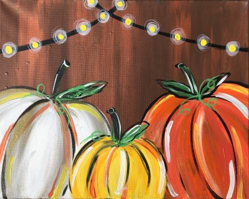 A Pumpkin Party paint nite project by Yaymaker