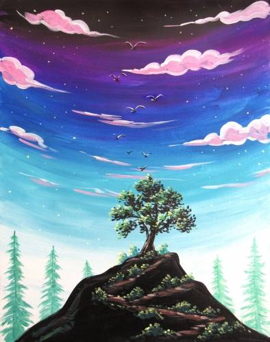 A Transcending Heights paint nite project by Yaymaker