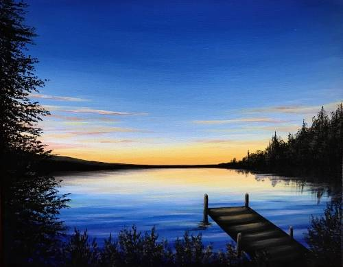 A Pasqua Lake Sunset paint nite project by Yaymaker