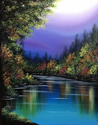 A Seasonal Reflections paint nite project by Yaymaker