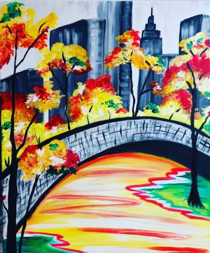 A City Fall paint nite project by Yaymaker