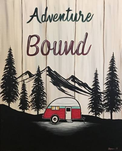 A Adventure Bound paint nite project by Yaymaker