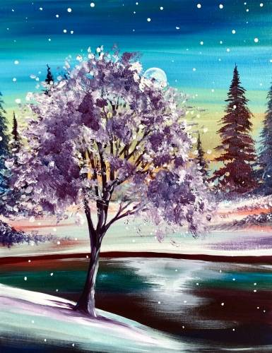 A Frosted Tips paint nite project by Yaymaker