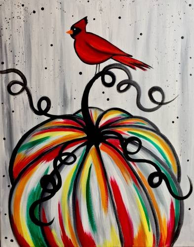 A Cardinals Pumpkin paint nite project by Yaymaker