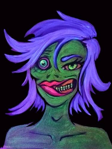 A Blacklight Zombie paint nite project by Yaymaker