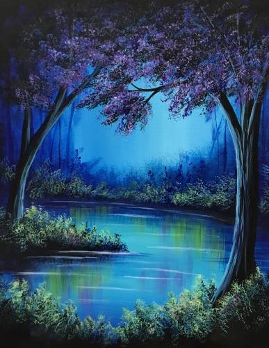 A Dream Forest paint nite project by Yaymaker