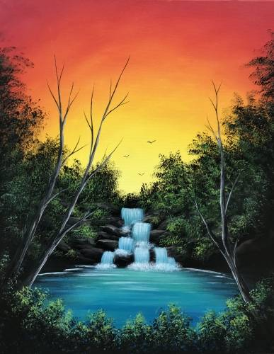 A Sunset Lagoon paint nite project by Yaymaker