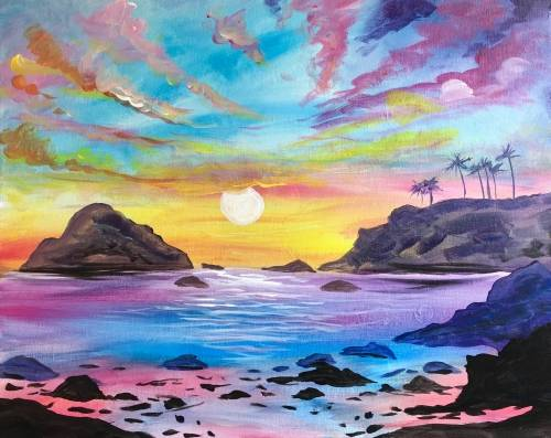 A Serene Sunset II paint nite project by Yaymaker