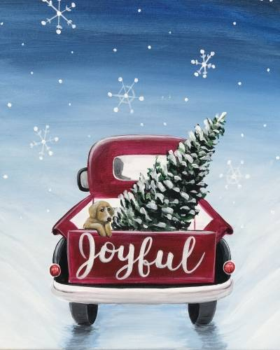 A Joyful Tree Truck paint nite project by Yaymaker