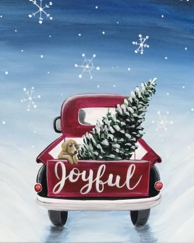 A Joyful Tree Truck paint nite project by Yaymaker