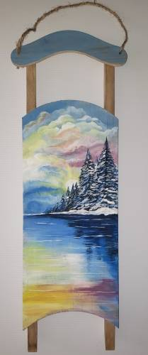 A More Than A White Winter paint nite project by Yaymaker