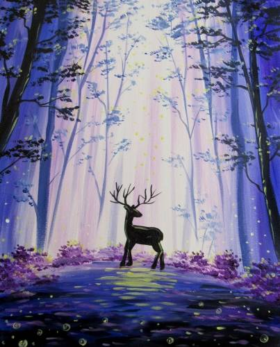 A Fairy Forest Deer paint nite project by Yaymaker