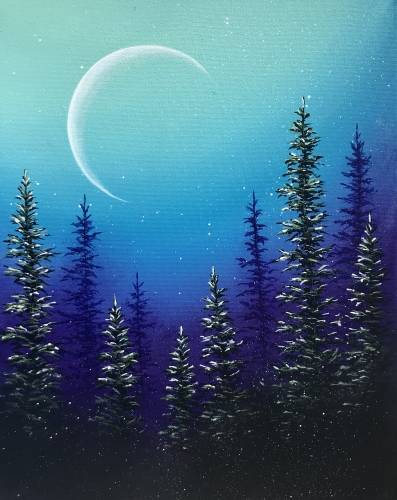 A Mystic Pines paint nite project by Yaymaker