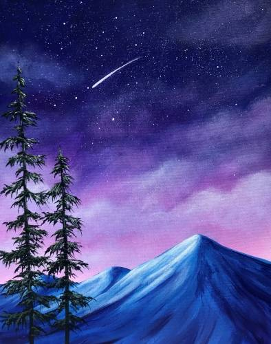 A Peaceful Nights paint nite project by Yaymaker