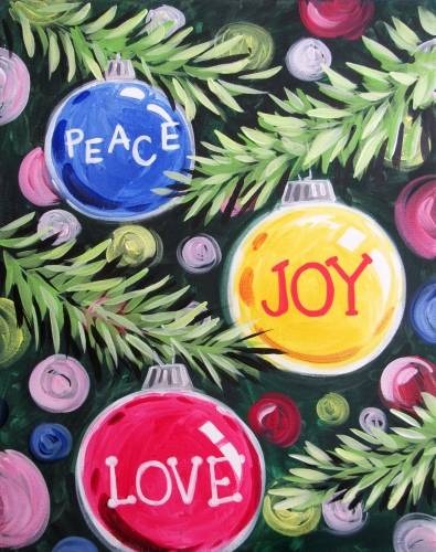 A Peace Joy Love  Customizable paint nite project by Yaymaker