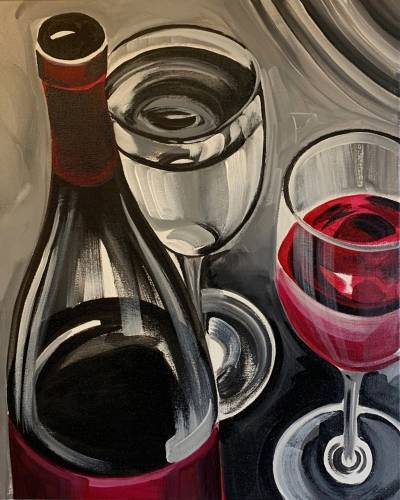A Wine for Two II paint nite project by Yaymaker
