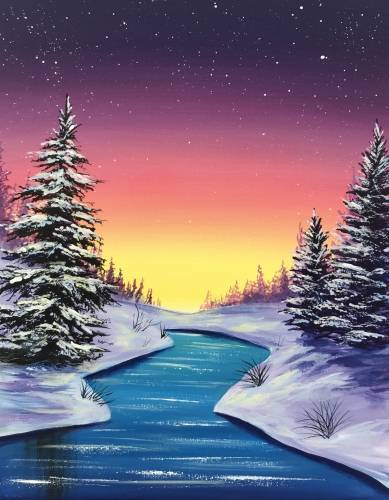 A Winter Glimmer paint nite project by Yaymaker