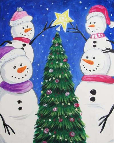 A Snowfamily Decorating paint nite project by Yaymaker