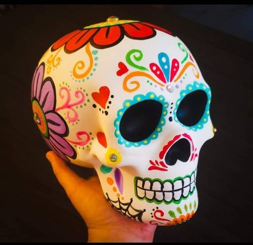 A Ceramics Painting  Calavera Sugar Skull ceramic painting project by Yaymaker