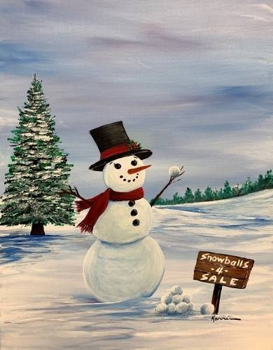 A Snowballs for Sale II paint nite project by Yaymaker