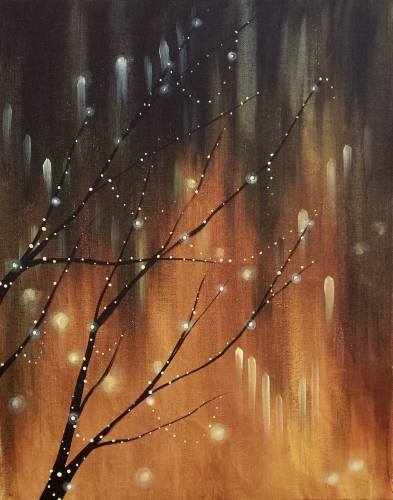 A Magic Fairy Lights paint nite project by Yaymaker
