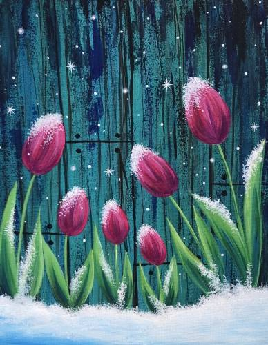 A Frosted Fuchsia Tulips paint nite project by Yaymaker