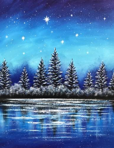 A Frosted Reflections paint nite project by Yaymaker